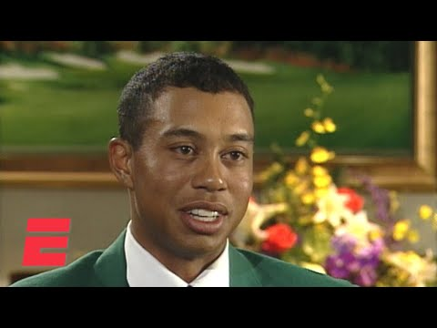 Tiger Woods exclusive ESPN interview after his 1st Masters win (1997) | ESPN Archive