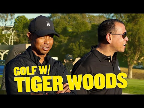 I PLAYED GOLF WITH TIGER WOODS! | BTS AT THE CELEBRITY CUP
