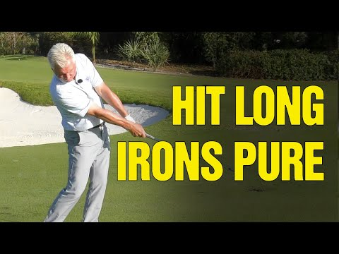 (2020) How To Hit Long Irons Pure And Straight [*NEW GOLF DRILLS!]