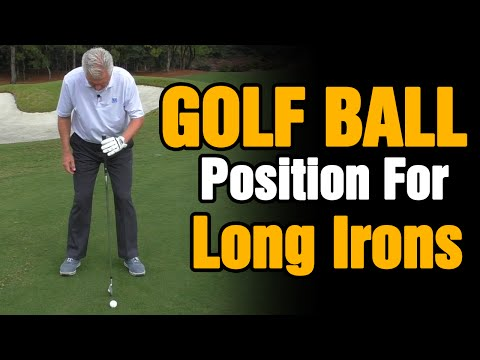 PERFECT GOLF BALL POSITION IN STANCE FOR LONG IRONS EXPLAINED