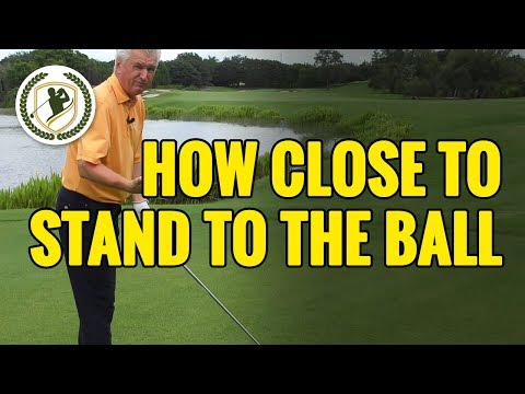 GOLF DRIVER TIPS – HOW CLOSE SHOULD YOU STAND TO THE BALL?
