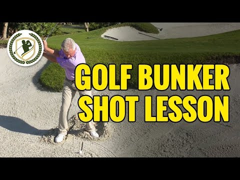 GOLF BUNKER SHOT TIPS – HOW TO SWING THROUGH THE SHOT
