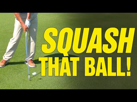 Golf Drills:  How To Compress Your Iron Shots (SQUASH THAT BALL!!)