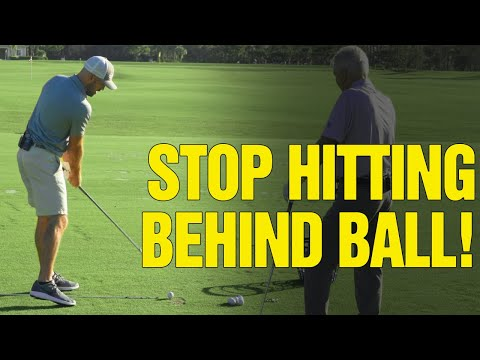[Video: 1 of 2]  Two KEYS To Avoid Hitting Behind The Golf Ball (With Eric Cogorno Golf)