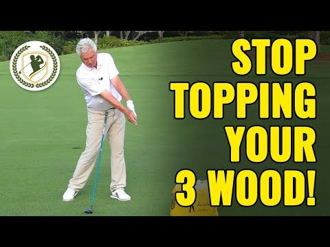How To Stop Topping Your 3 Wood From The Fairway (STOP DOING THIS!)
