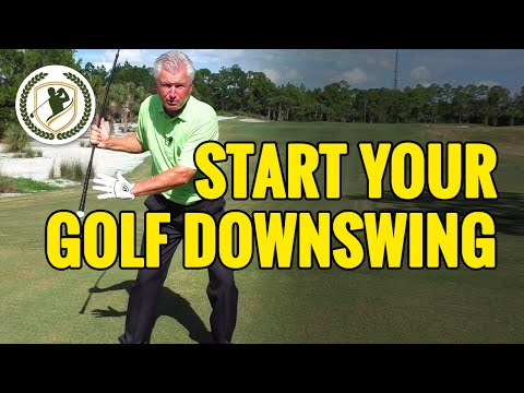 HOW TO START THE GOLF DOWNSWING PERFECTLY IN PLANE!