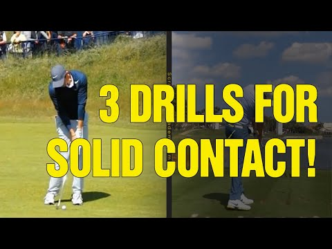 3 Golf Swing Drills For Irons (SOLID CONTACT!)