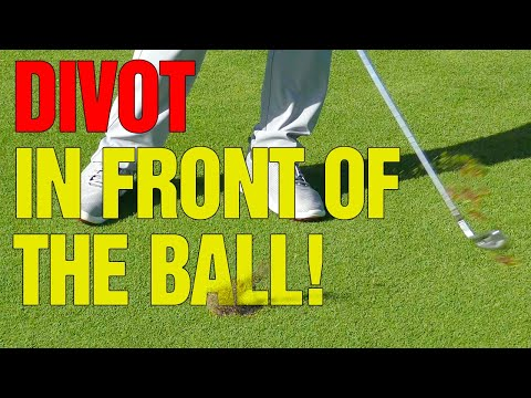 Golf: How To Take a Divot in Front of the Ball [DO THIS!]