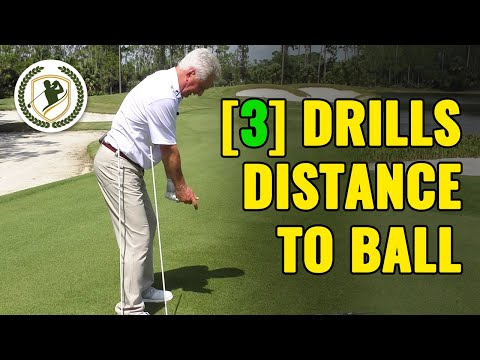 [3] GOLF DRILLS – HOW FAR SHOULD YOU STAND TO GOLF BALL?