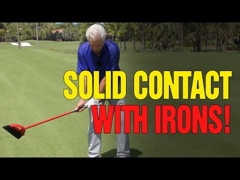 [COMPRESS THE BALL] – Golf Drills For Solid Contact Iron Shots (BROOM DRILL?)