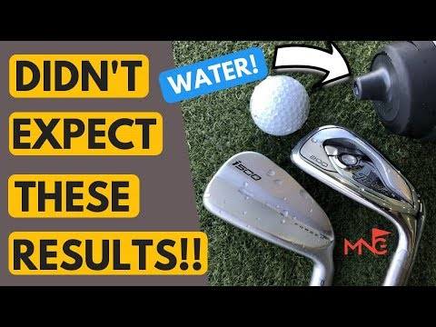 This Shocked Me!! Wet Ball Testing Ping i500 Iron VS Titleist T200 Iron