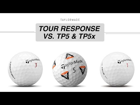 Tour Response VS. TP5 & TP5x // Taylormade Golf Ball Comparison