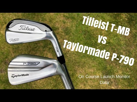 Taylormade P-790 vs Titleist 718 T-MB – Battle of the POWER IRONS (Launch Monitor on course test)
