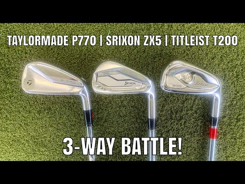 TaylorMade P770, Titleist T200, Srixon ZX5 | Comparison Review Battle