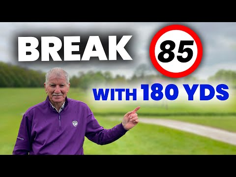 how to BREAK 85 with ONLY 180 YARDS
