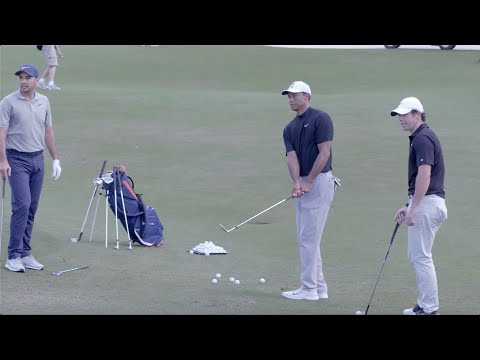 Tiger Woods, Rory McIlroy & Jason Day Short Game Session | TaylorMade Golf