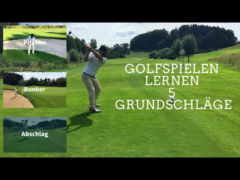 Golf Sport: Golfspielen  lernen die 5 Grundschläge teil 2-Pitchen-Bunker-Abschlag