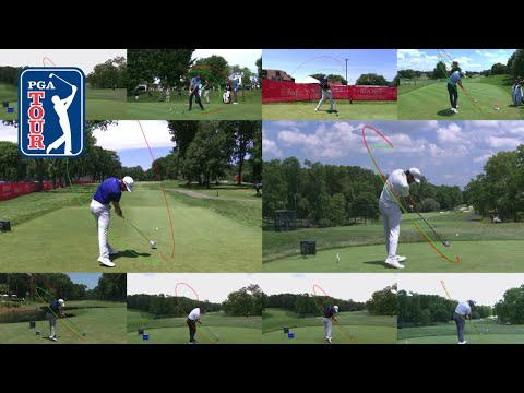 Tracing some of golf's best swings on the PGA TOUR