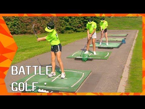 Battle Golf met Edith Eijkemans en Wiebe Giesen | ZAPPSPORT