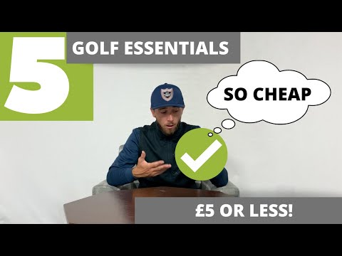 5 ESSENTIAL GOLF BAG ACCESSORIES FOR UNDER £5