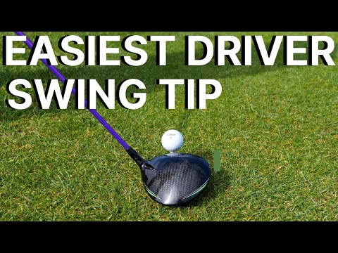 THE EASIEST DRIVER SWING TIP  – learn an effortless golf swing with this simple driver tip