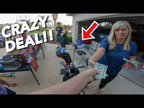 THE MOST EXPENSIVE GOLF CLUBS WE'VE EVER BOUGHT AT GARAGE SALES