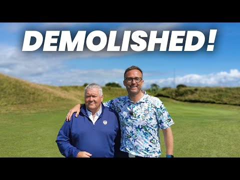 GOLFER GETS DESTROYED ON THE GOLF COURSE!!
