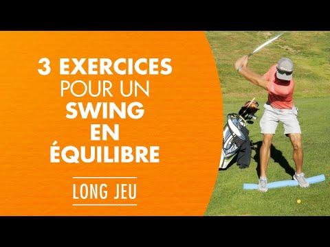 3 exercices pour un swing de golf en équilibre