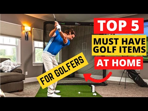 How to Play Golf at Home?!🤔(Best 🏌️♂️ Items to Practice Golf at Home)