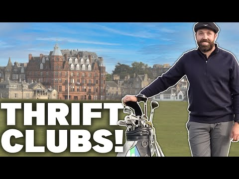 Playing St Andrews with THRIFT SHOP clubs – CRAZY 7.5º driver & 1 iron!