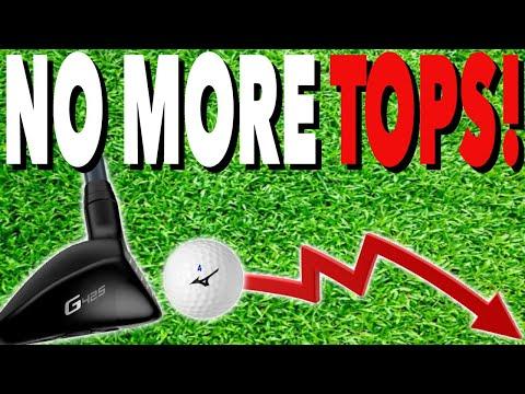 NEVER Top A HYBRID Golf Club Again! Simple Golf Tips