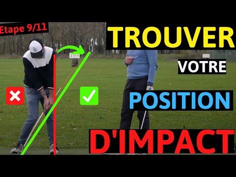 Golf la position à l'impact avec votre club dans le swing de golf.