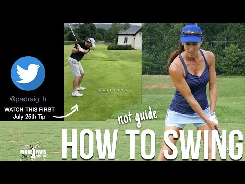 Swing the Club like a Single Digit Player (not guide it)